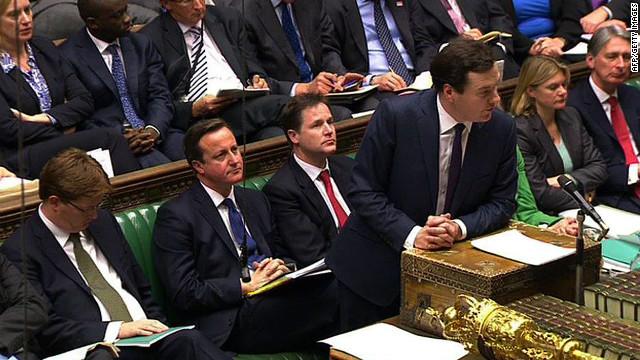 Chancellor George Osborne delivers his annual Autumn Statement .