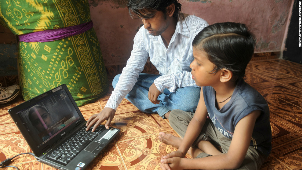 Only eight % of rural India is computer literate.