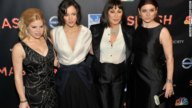 "Megan Hilty, Katharine McPhee, Anjelica Huston, and Debra Messing star in ""Smash."""