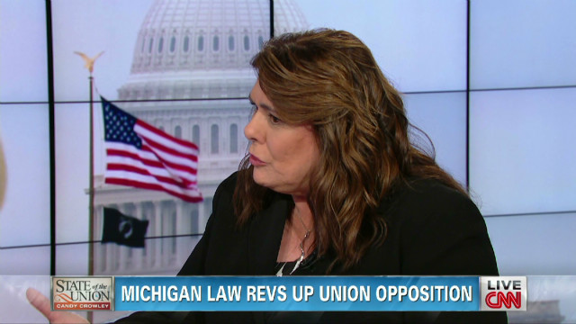 Michigan law revs up union opposition