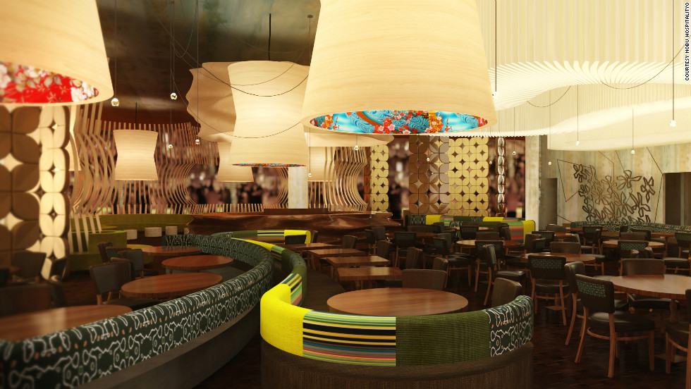 The Nobu Hotel at Caesars Palace in Las Vegas, set to open in January 2013, is the first hotel from high-end restaurant chain Nobu. Nobu is one of an increasing number of luxury brands to diversify into opening hotels.