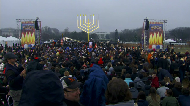 Watch lighting of National Menorah
