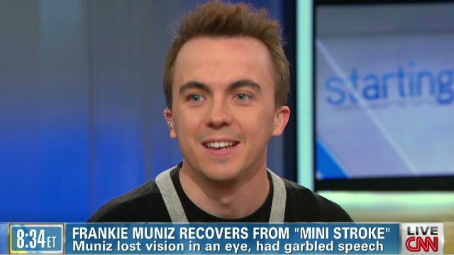 Frankie Muniz talks 'mini-stroke'