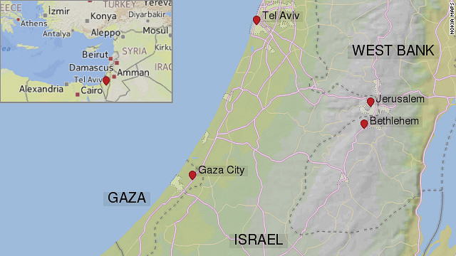Map: Where is Bethlehem?