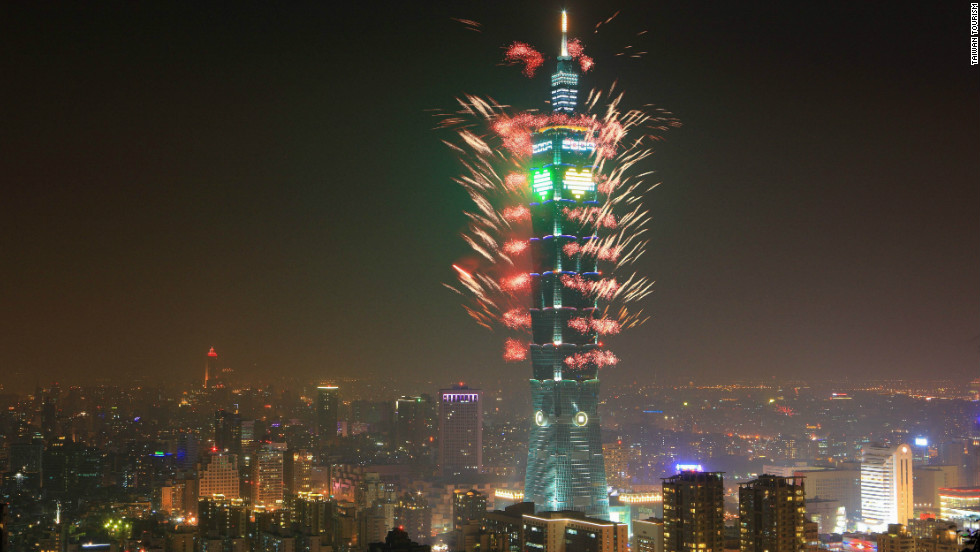 Taipei, the capital of Taiwan, rounds out Solidiance's top ten list of Asia's innovative cities. The Taipei 101 tower is lit up by fireworks on New Year's Eve.