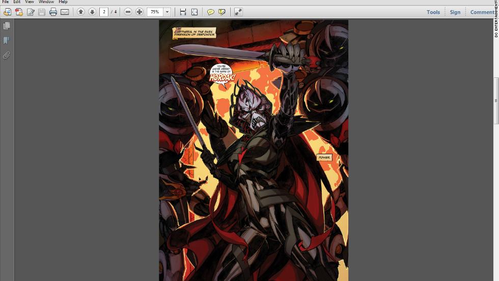 The evil Lord Hordak raised She-Ra's alter ego Princess Adora in the dark dimension of Despondos.