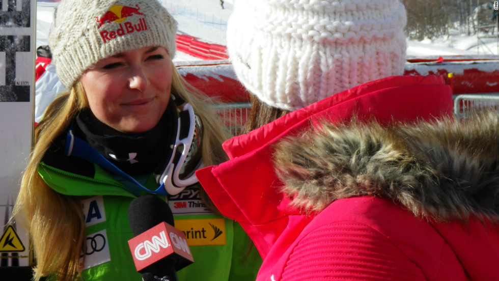 Vonn took time out of her preparations for an Alpine World Cup event in Val d'Isere to catch up with CNN's Alpine Edge show.