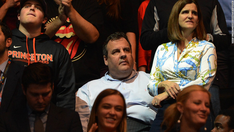 New Jersey Gov. Chris Christie attends the concert on Wednesday.  Christie recently said the latest estimates of Sandy-related storm costs in his state were $36.8 billion, while New York Gov. Andrew Cuomo told reporters the total cost in his state was $41 billion.