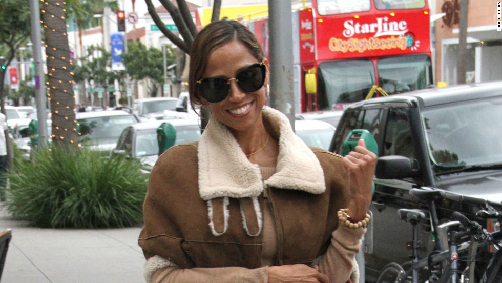 Stacey Dash strolls through Beverly Hills on December 12.