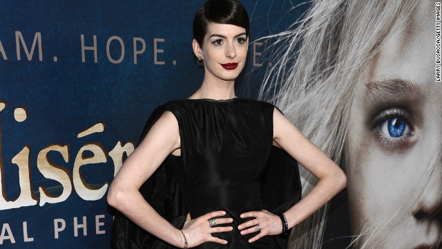 "Anne Hathaway had an incident at the New York premiere of her new film, ""Les Misérables."""