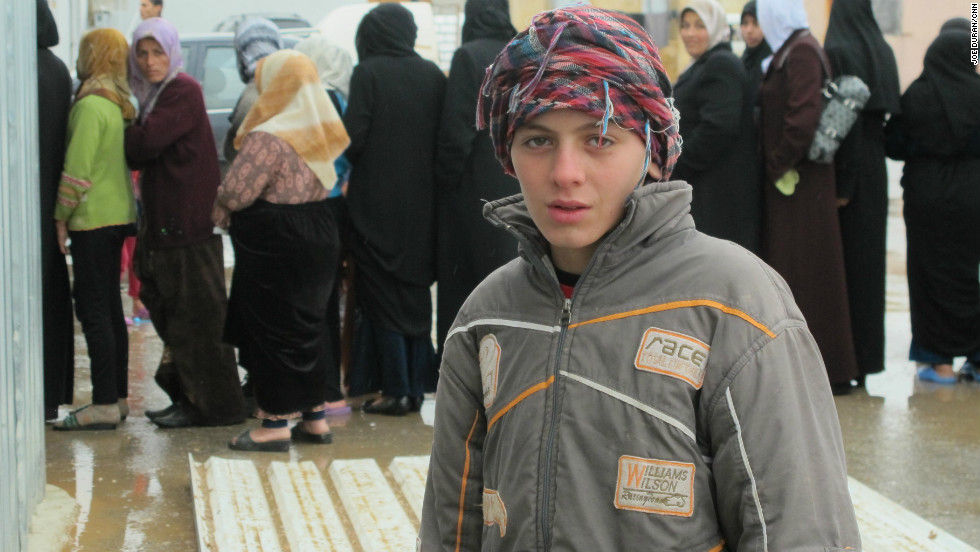 Many Syrian refugees are waiting permission to cross into Turkey and flee fighting in their home country.