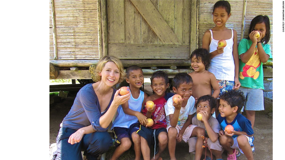 She's visited with indigenous Orang Asli children in Malaysia.