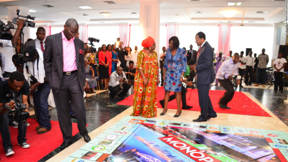 A giant version of the City of Lagos edition of Monopoly was unveiled earlier this week in the Nigerian city.