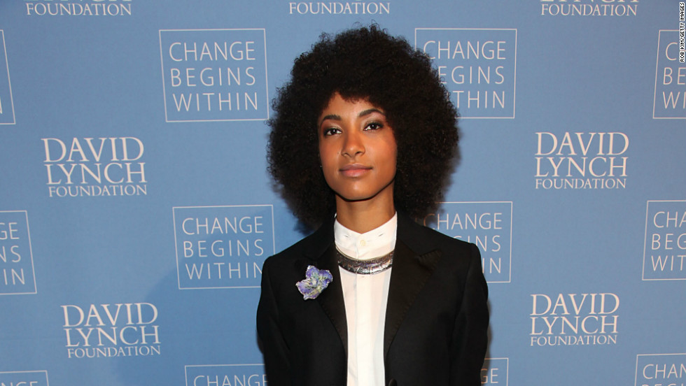 "Grammy-winning jazz musician Esperanza Spalding arrives at the David Lynch Foundation's ""An Intimate Night of Jazz"" in New York City on December 13."