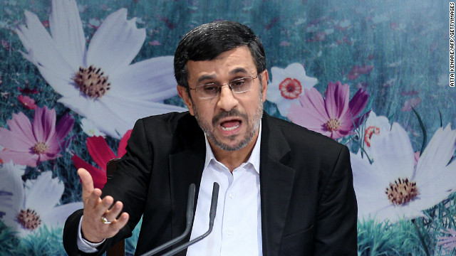 Iran President Mahmoud Ahmadinejad said at an October press conference that Iran will not back down on its nuclear program.