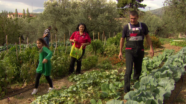 Greeks escape austerity for farm living