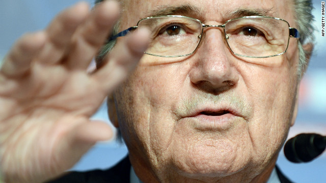 FIFA president Joseph Blatter answers questions during a press conference in Tokyo on December 15.