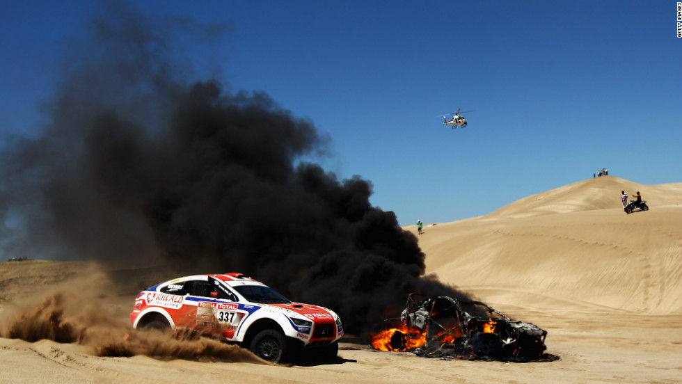 The Dakar rally, which moved from Africa to South America for security reasons in 2009, is notoriously dangerous and has claimed a number of lives in its history, both among competitors and spectators.