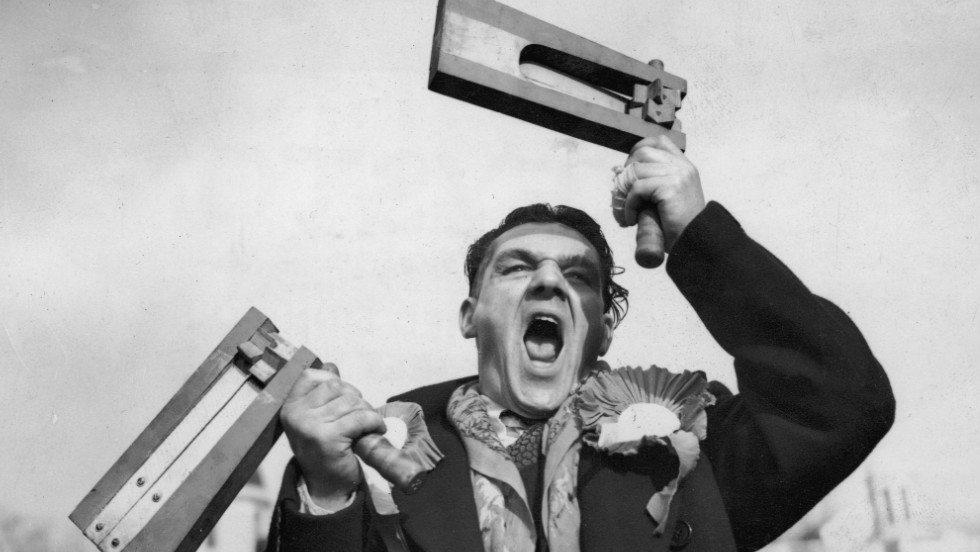 Back in 1949, football fans in England came to matches armed with very different instruments of noise -- wooden rattles.