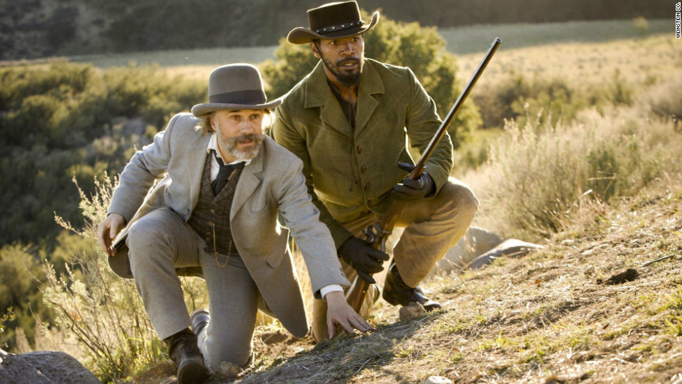 "Quentin Tarantino's potent blend of blaxploitation and spaghetti western is provocative, laugh-out-loud funny and full of fire. The director reminds us that slavery is outrageous -- an outrage -- not least for the way it was ensconced in a notion of aristocratic gentility. Christoph Waltz, left, and Jamie Foxx are among the stars. <a href=""http://www.cnn.com/2012/12/28/showbiz/movies/10-worst-movies-2012/index.html"">Check out the worst movies of 2012 here.</a>"