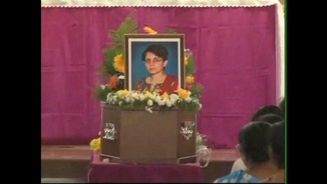 Royal hoax nurse buried in India