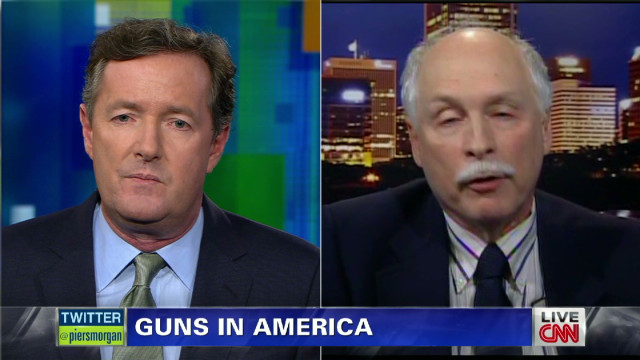 Piers takes on gun rights advocate