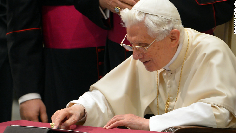 "<strong>Newcomer to Twitter: Pope Benedict: </strong>Pope Benedict joined Twitter as <a href=""https://twitter.com/Pontifex"" target=""_blank"">@ponitex</a>, sending his first tweet: <a href=""https://twitter.com/Pontifex/status/278808536404852736"" target=""_blank"">""Dear friends, I am pleased to get in touch with you through Twitter. Thank you for your generous response. I bless all of you from my heart""</a> on December 12.  At the time of writing he has more than 1.2 million followers after only nine tweets."