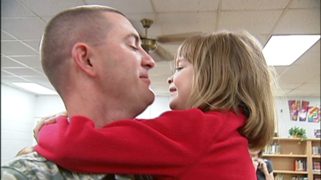 Santa grants girl's wish to see her dad