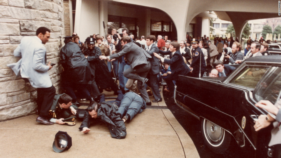 John Hinckley Jr. tried to assassinate President Ronald Reagan in front of the Washington Hilton. Reagan's press secretary, James Brady, was wounded and paralyzed in the attack. The attack brought gun control to the forefront of the debate and was in part the reason that Reagan later endorsed the Brady Bill, which established a national system for background checks and a five-day waiting period after purchasing a handgun. The provision that compels state and local governments to perform background checks was declared unconstitutional in 1996.