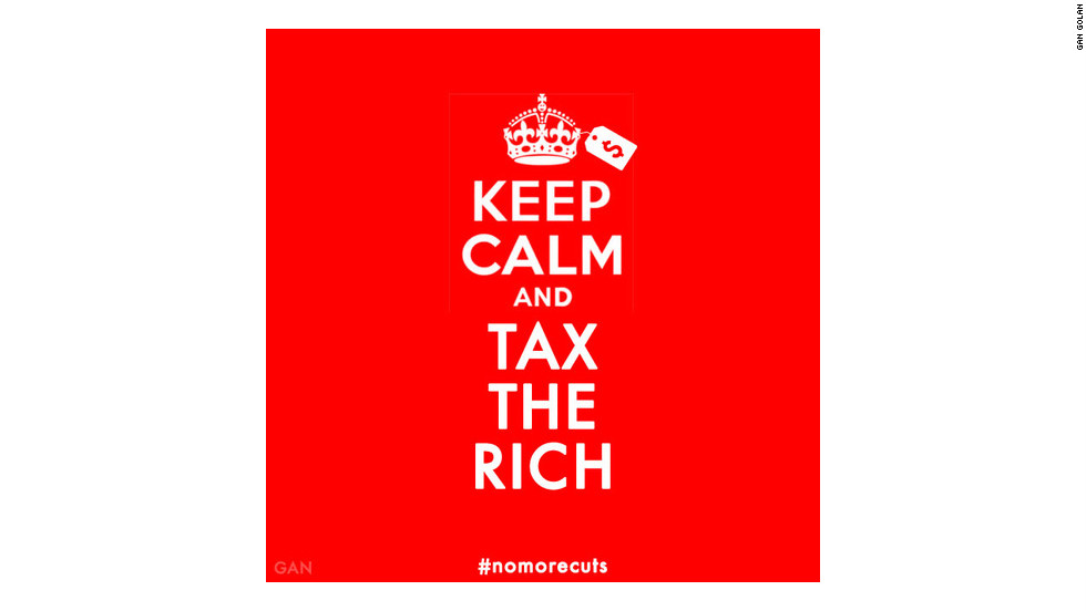 """Keep Calm & Tax the Rich"" by Gan Golan"