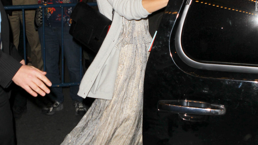 Katie Holmes leaves the Music Box Theater on her birthday.
