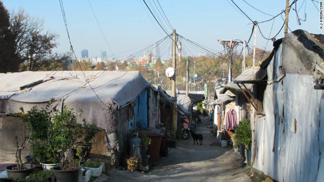 In the south of Seoul's posh Gangnam District, Guryong village is a shantytown filled with shacks made of wood and iron.