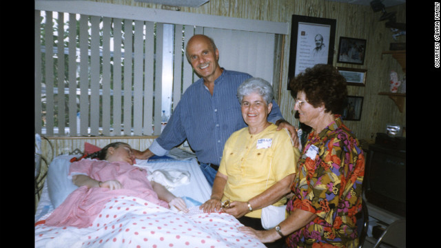 "Wayne Dyer visits Edwarda on her birthday in 1997. He wrote ""A Promise Is A Promise"" about the O'Baras."