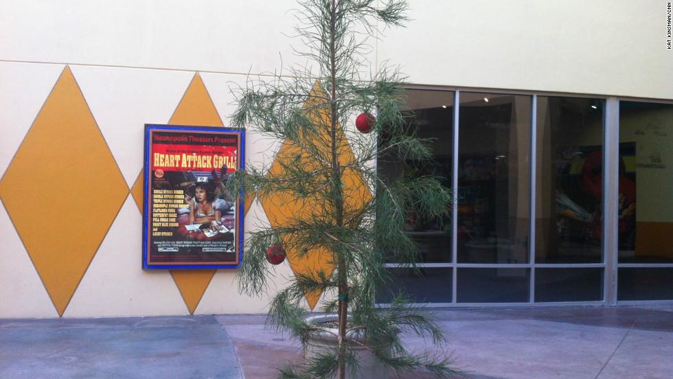 Neonopolis plaza near the Heart Attack Grill