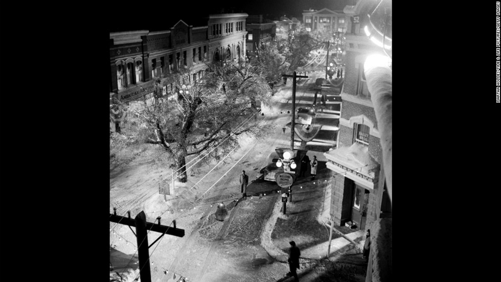 "A bird's-eye view shows downtown Bedford Falls. <a href=""http://life.time.com/culture/its-a-wonderful-life-photos-from-the-set-of-a-holiday-classic/#1"" target=""_blank"">See additional behind-the-scenes images on Life.com.</a>"