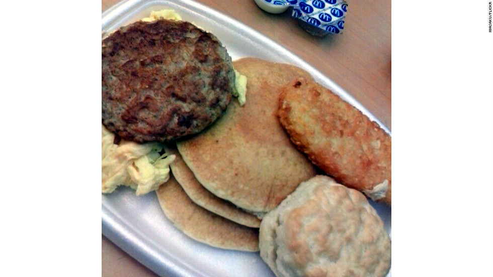 "<strong>McDonald's Big Breakfast with Hotcakes:</strong> Big is right. You get scrambled eggs, sausage, hash browns and a small stack of pancakes. Order it with a large-size biscuit and you'll be starting the day with 2,260 milligrams of sodium and 1,150 calories. <strong>Choose this instead: </strong>Get the Big Breakfast sans hotcakes and save 580 mg of sodium and 350 calories.<a href=""http://www.health.com/health/gallery/0,,20365078,00.html"" target=""_blank"">Health.com: 25 surprisingly salty processed foods</a>"