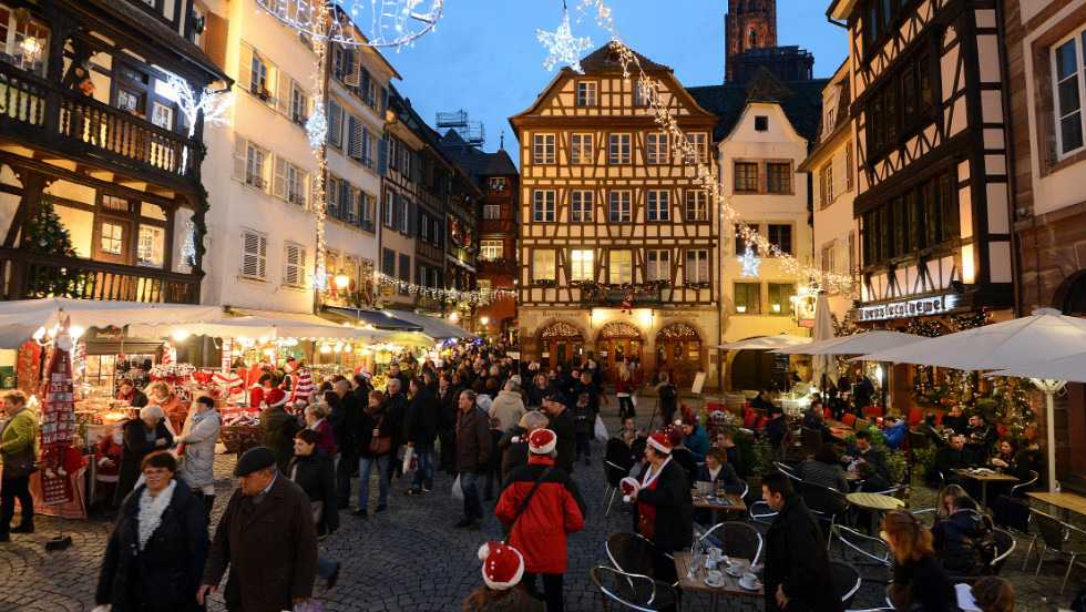 "Foie gras with Christmas beer made by Alsatian monks, anyone? With a market dating to 1570, the French border city of Strasbourg has adopted the title of ""Capital of Christmas."""