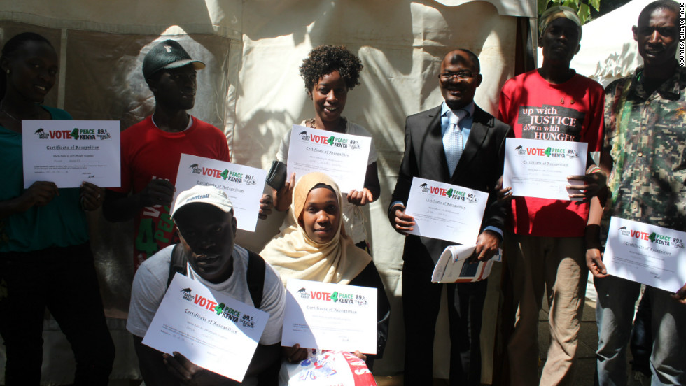 "It's all part of the ""Vote4Peace Vote4Kenya"" campaign ahead of the East African country's elections on March 4."
