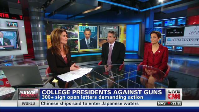 College presidents against guns