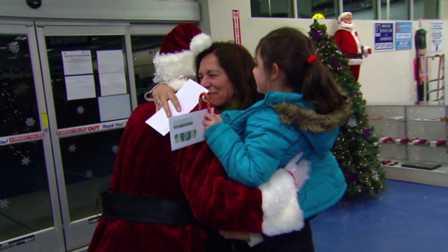Santa brings cheer to Sandy victims