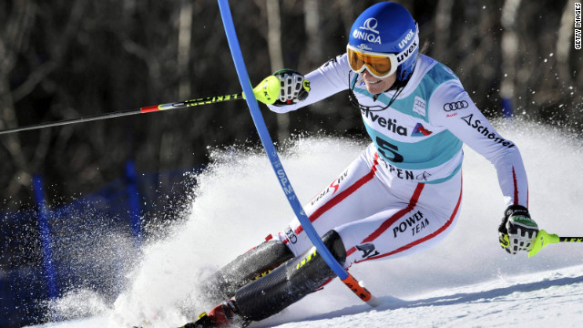 Marlies Schild in action during a World Cup slalom race earlier this season in Colorado.