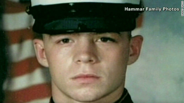 Former Marine Jon Hammar, 27, was back in the United States Friday night, said U.S. Rep. Ileana Ros-Lehtinen.