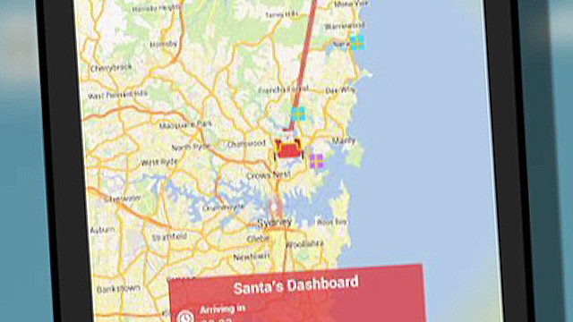 Track Santa with your smartphone