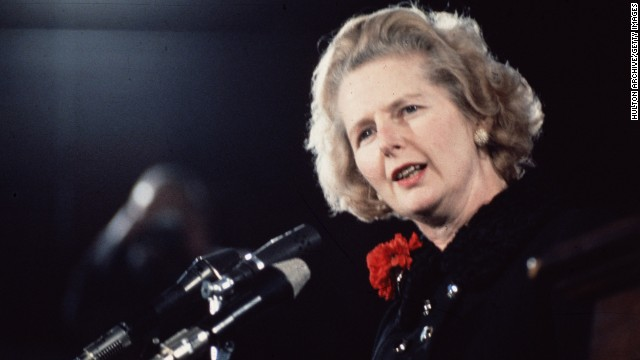 Polarizing reactions to Thatcher death