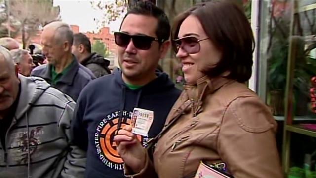 Big winners in Spain's annual lottery