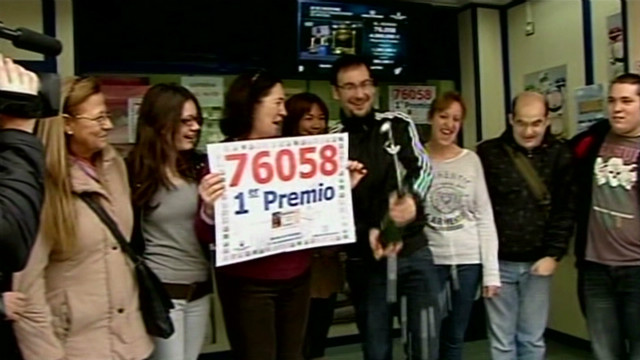 Big winners in Spain's annual lottery