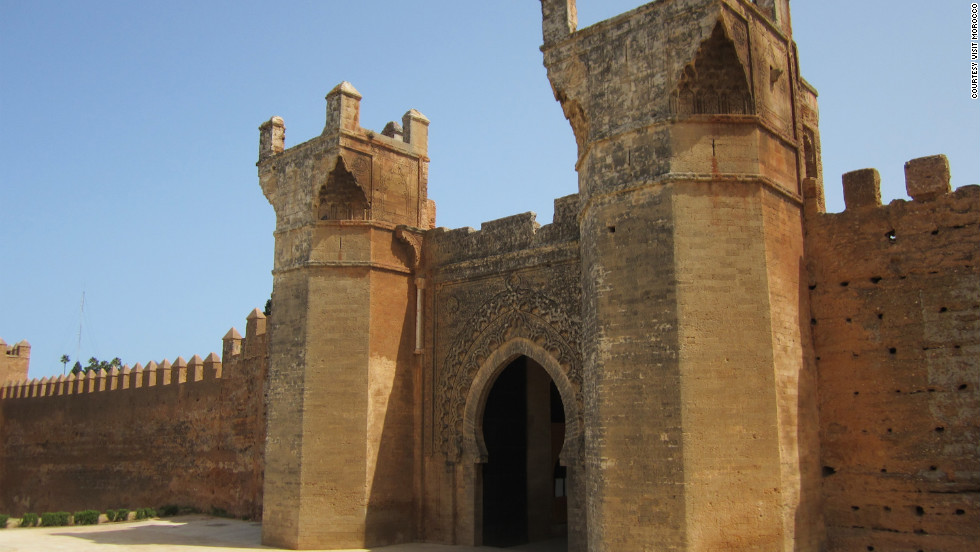 The Roman and medieval ruins of Chellah on the outskirts of Rabat, Morocco. The capital was designated a UNESCO World Heritage Site in July 2012.