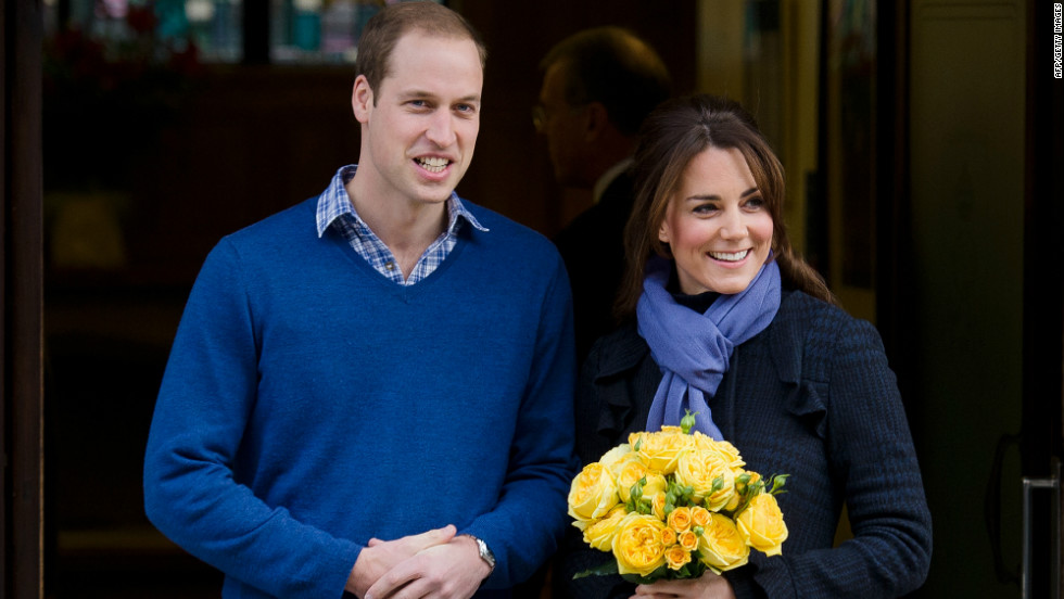 The UK's Prince William and his pregnant wife the Duchess of Cambridge left a London hospital on December 6, 2012, four days after she was admitted for treatment for acute morning sickness. The royal couple are expecting their first child after 19 months of marriage. In a break with tradition, The Cambridges, are spending Christmas Day in Bucklebury, West Berkshire, with the Duchess's family.