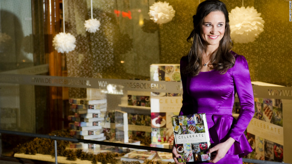 Pippa Middleton, the sister of the Duchess of Cambridge, promotes the Dutch edition of her book 'Celebrate: A Year of British Festivities for Families and Friends' to be released in October.