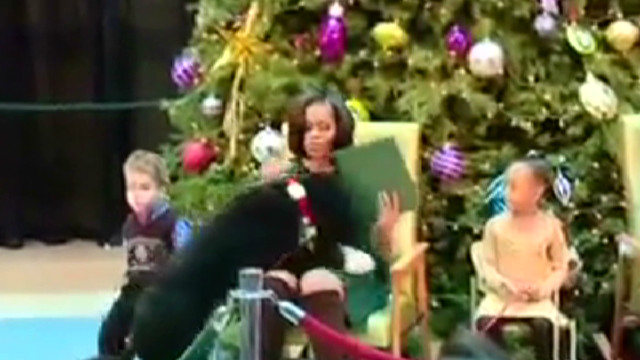 Bo steals show from Michelle Obama